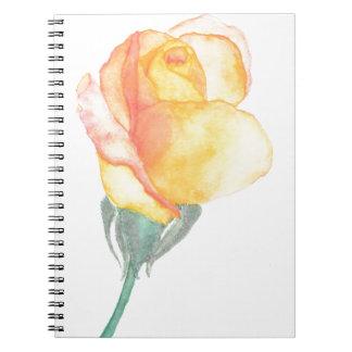 Caderno cor-de-rosa do por do sol amarelo