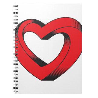 Caderno coração impossìvel torcido