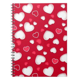 Caderno Corações bonitos