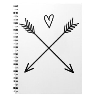 Caderno Corações & setas