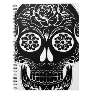 Caderno Crânio abstrato