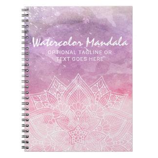 Caderno Cura holístico & espiritual da mandala da aguarela