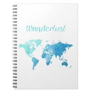 Caderno da aguarela do Wanderlust