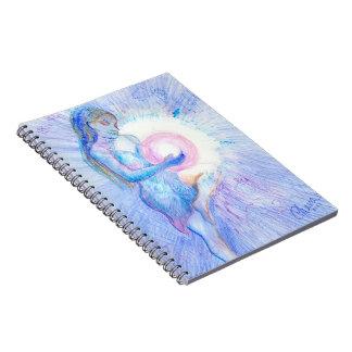 Caderno da arte Mystical, mulher com a bola da luz