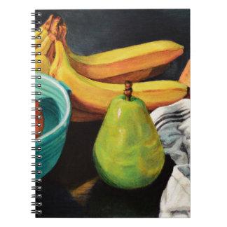 Caderno Da banana de Apple da pera vida ainda