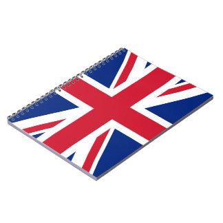 Caderno da bandeira de Union Jack