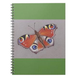 Caderno da borboleta de pavão