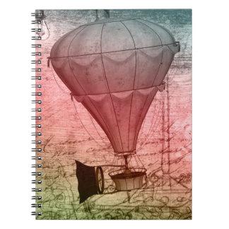 Caderno da capa dura do esboço do balão de