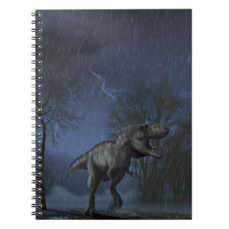 Caderno da cena da noite do Albertosaurus