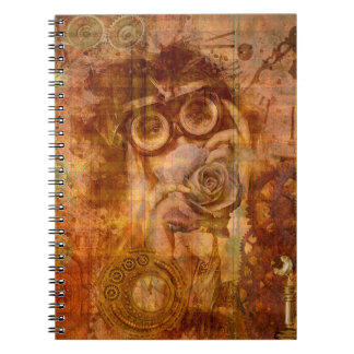 Caderno da colagem de Steampunk