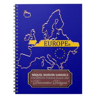 Caderno da cor da bandeira do esboço do continente