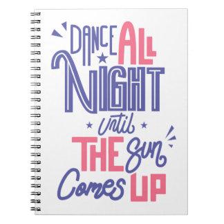 Caderno Da dança citações engraçadas toda a noite - dança