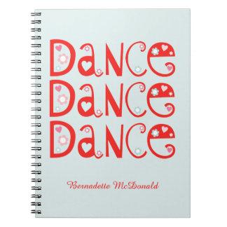 Caderno da dança da dança da dança