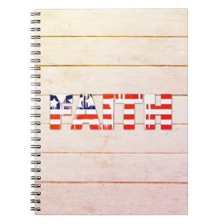 Caderno da fé da bandeira americana
