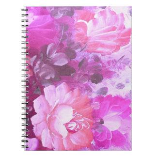 Caderno da flor da aguarela