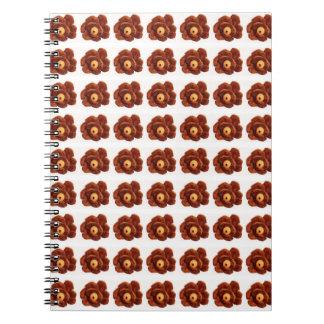 Caderno da flor de Pinecone