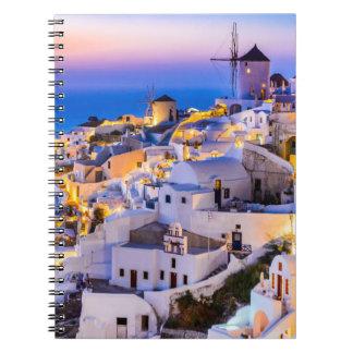 Caderno da foto (80 páginas B&W) Oia Santorini