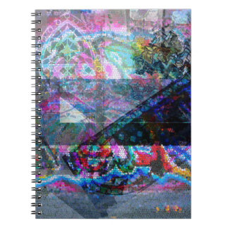 Caderno da foto com design do mosaico