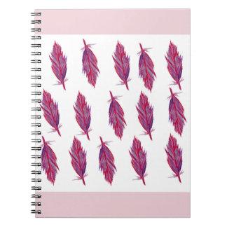 Caderno da foto da aguarela das penas (80 páginas