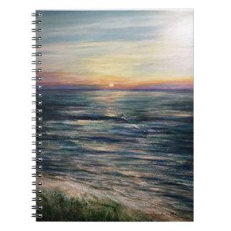 Caderno da foto da caminhada da manhã