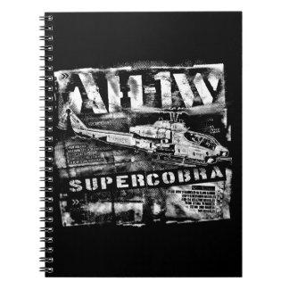 Caderno da foto da espiral do caderno de AH-1