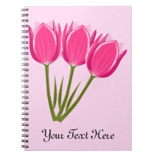Caderno da foto das tulipas