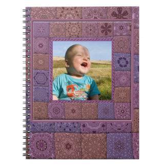 Caderno da foto do artesanato de Quilters