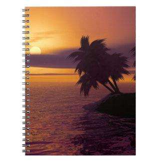 Caderno da foto do nascer do sol