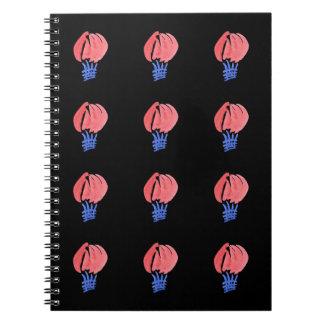 Caderno da foto dos balões de ar