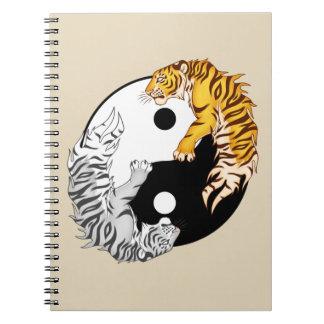 Caderno da foto dos tigres de Yin & de Yang
