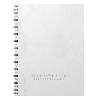 Caderno da foto - mármore de prata