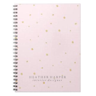 Caderno da foto - o ouro pontilha o rosa