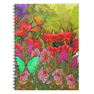 Caderno da glória do jardim