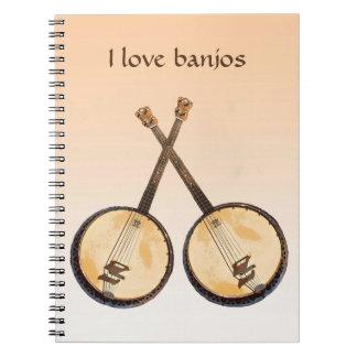 Caderno da laranja do instrumento de música do