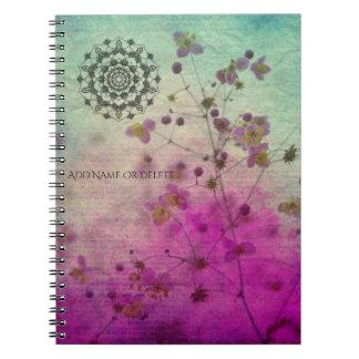 Caderno da mandala e dos Wildflowers