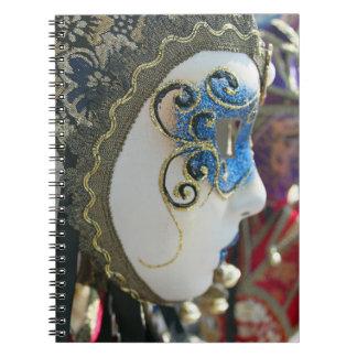 Caderno da máscara do carnaval