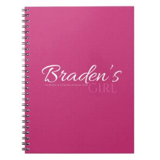 Caderno da menina de Braden