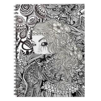 Caderno da menina de China