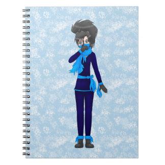 caderno da menina do ninja