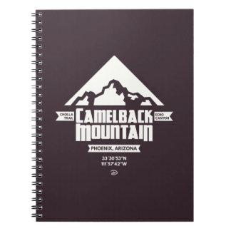 Caderno da montanha do Camelback (escura) -