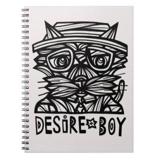 Caderno da página de BuddaKats 80 do menino do