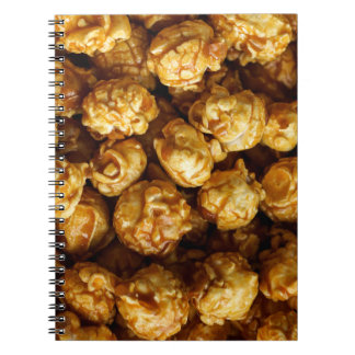 Caderno da pipoca do caramelo