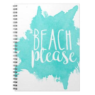 Caderno Da praia branco por favor