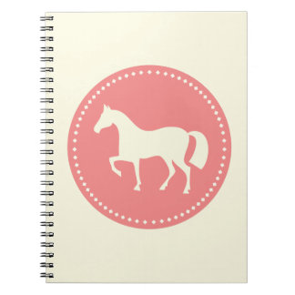 Caderno da silhueta do cavalo ou do pônei (creme &