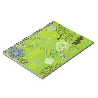 caderno da verde-flor