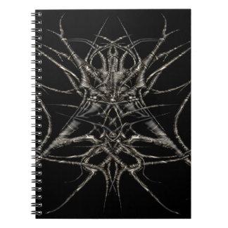 Caderno dark de ouro
