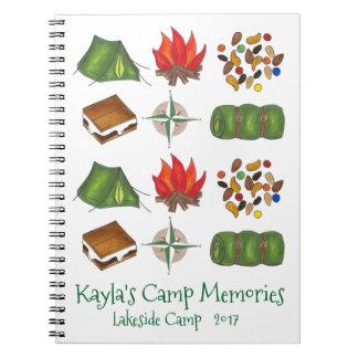 Caderno de acampamento personalizado do campista