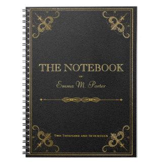 Caderno de couro da escola do livro do estudante