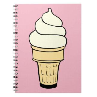 Caderno de creme do cone de Vanilla Ice