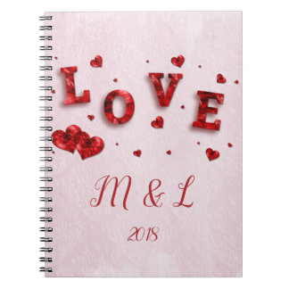 Caderno de cristal do amor e dos corações do rubi